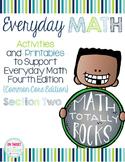 Everyday Math 4 Section Two {Kindergarten} EDM4 Common Cor