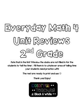 Everyday Math 4 Test Reviews//All Units