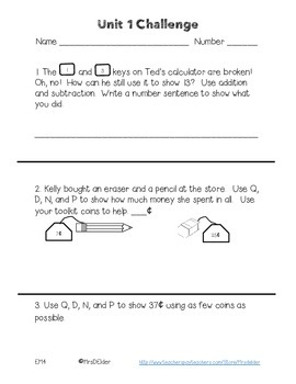 Everyday Math 4 Unit 1 Challenge