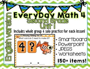 Everyday Math 4  Unit 1  English  Grade 2  Smartboard, Powerpoint, Worksheets