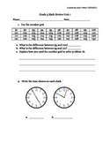 Everyday Math 4 Unit 1 Test Review (Grade 3)