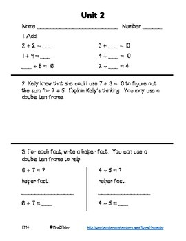 Everyday Math 4 Unit 2 Assessment