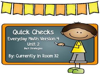 Everyday Math 4 Unit 2 Quick Checks