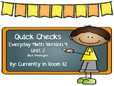 Everyday Math 4 Unit 2 Quick Checks