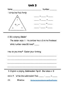 Everyday Math 4 Unit 3 Assessment