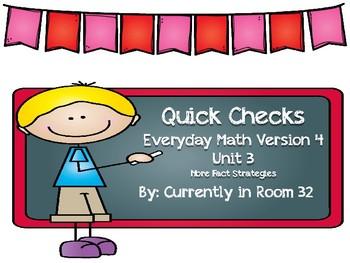 Everyday Math 4 Unit 3 Quick Checks