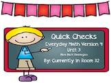 Everyday Math 4 Unit 3 Quick Checks