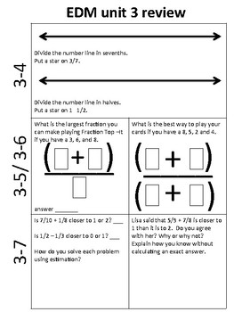 Everyday Math 4- Unit 3 Review/Extra Practice