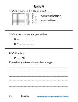 Everyday Math 4 Unit 4 Assessment