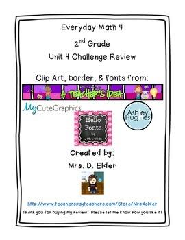 Everyday Math 4 Unit 4 Challenge