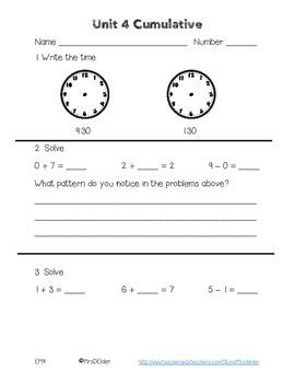 Everyday Math 4 Unit 4 Cumulative Assessment