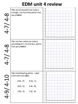Everyday Math 4- Unit 4 Review/Extra Practice