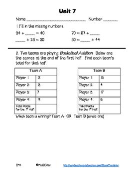 Everyday Math 4 Unit 7 Assessment