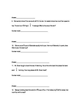 Everyday Math 4 Unit 7 Quizzes
