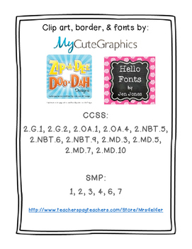 Everyday Math 4 Unit 8 Assessment Pack