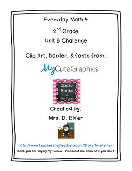 Everyday Math 4 Unit 8 Challenge