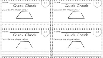 Everyday Math 4 Unit 8 Quick Checks