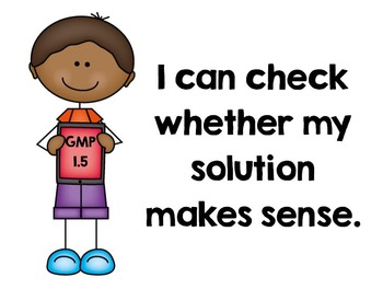 """EM4's (Everyday Math 4's) Goals for Mathematical Practice (GMPs) """"I Can"""" Posters"""