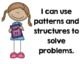 "EM4's (Everyday Math 4's) Goals for Mathematical Practice (GMPs) ""I Can"" Posters"