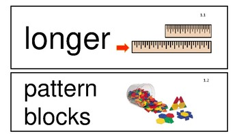 Everyday Math 4th Edition Kindergarten Vocabulary Unit 1
