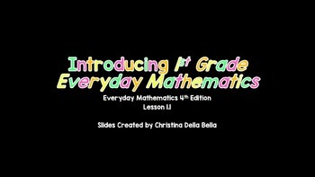 Everyday Math 4th Edition -- Lesson 1.1