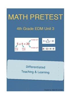 Everyday Math 4th Grade Unit 3 Pretest