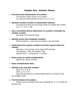 Everyday Math 5th Grade - Chapters 1-3 Study Guides