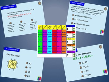 Everyday Math 5th Grade Unit 2 Jeopardy Review Game
