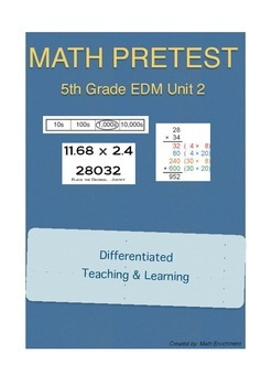 Everyday Math 5th Grade Unit 2 Pretest