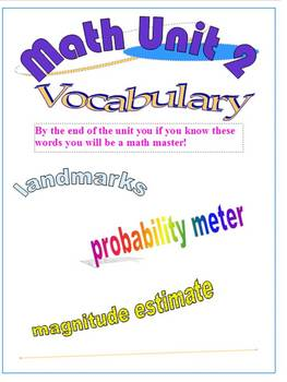 Everyday Math 5th Grade Unit 2 Vocabulary Poster