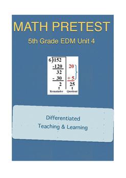 Everyday Math 5th Grade Unit 4 Pretest