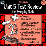 Everyday Math 5th Grade Unit 5 Review/Test Prep/Study Guide