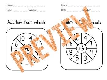 Everyday Math Addition Fact Wheels