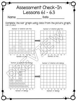 Everyday Math Assessment Check In Unit Six for 2nd Grade