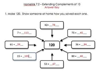 Everyday Math CCSS Edition Homelink 7.2
