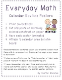 Math Calendar Routine Posters