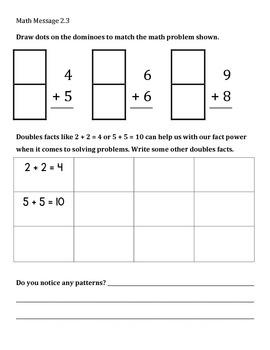 Everyday Math Chapter 2 Math Messages (2nd grade)