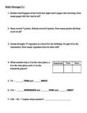 Everyday Math Chapter 3 Math Messages (2nd grade)