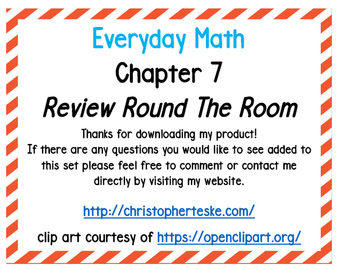 Everyday Math Chapter 7 Review Activity
