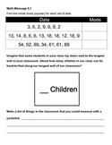 Everyday Math Chapter 9 Math Messages (2nd grade)