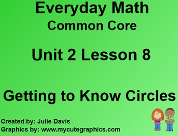 Everyday Math 4 Common Core Edition Kindergarten 2.8 Getting to Know Circles
