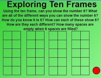 Everyday Math 4 EDM4 Common Core Edition Kindergarten 2.9 Ten Frames