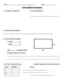 Everyday Math Common Core Unit 2 Review Homework, Grade 4