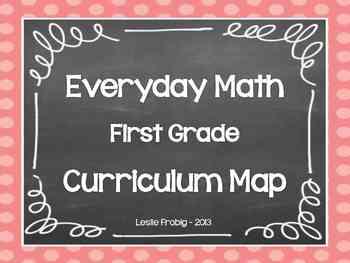 Everyday Math Curriculum Map for First Grade