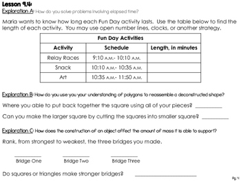 Math Study Guide, Grade 3, Unit 9 of EDM4