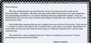 Everyday Math EM4 Grade 4 Chapter 5 SMARTboard lessons