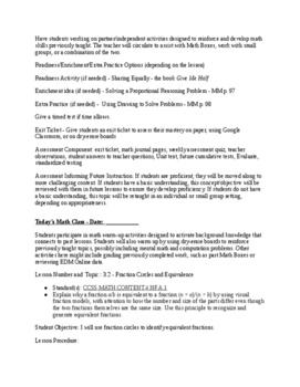 Everyday Math - EM4 - Lesson Plans - Grade 4 - Complete Unit 3!