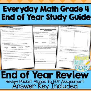 Everyday Math End Of Year Review Study Guide Grade 4