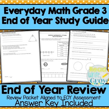 Everyday Math - End of Year Review & Study Guide {Grade 3}