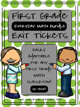 Everyday Math Exit Tickets Bundle - First Grade